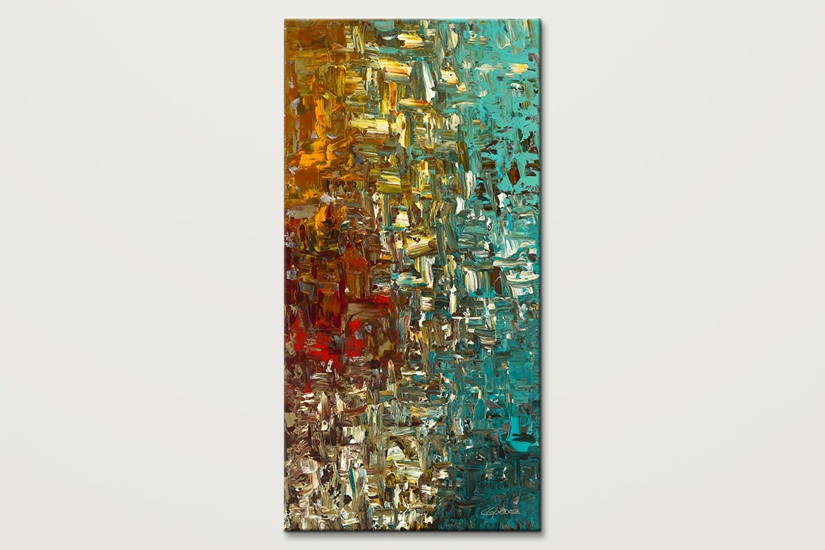 A Moment In Time Vertical Large Abstract Art Painting