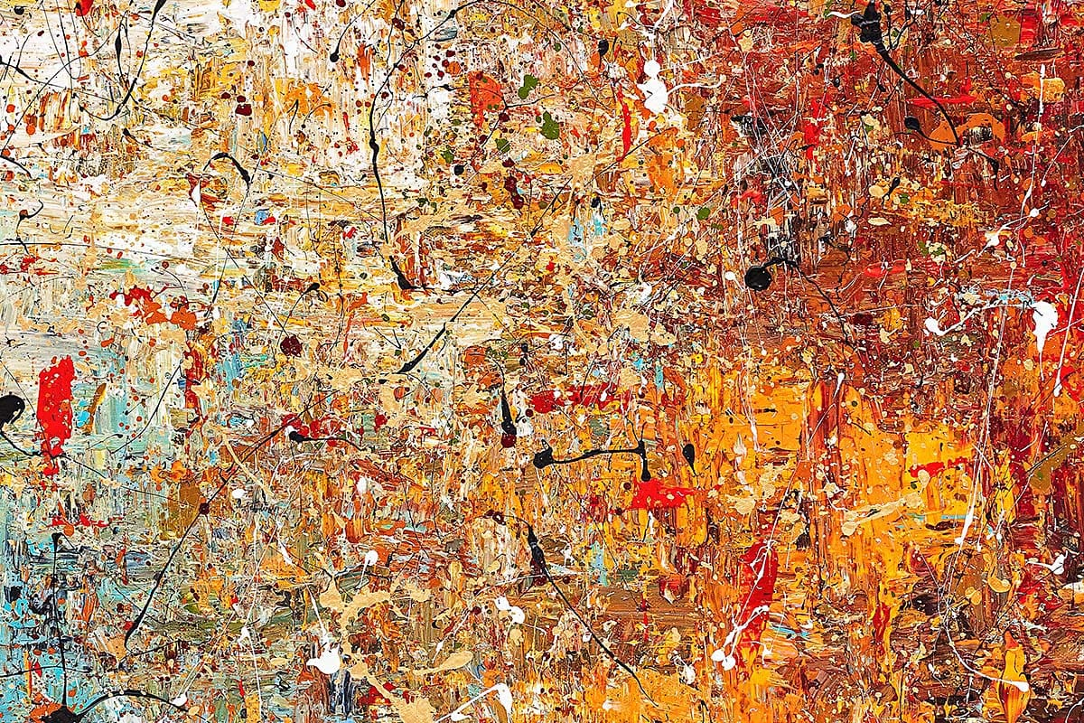 A Moment To Remember Abstract Art Painting Close Up