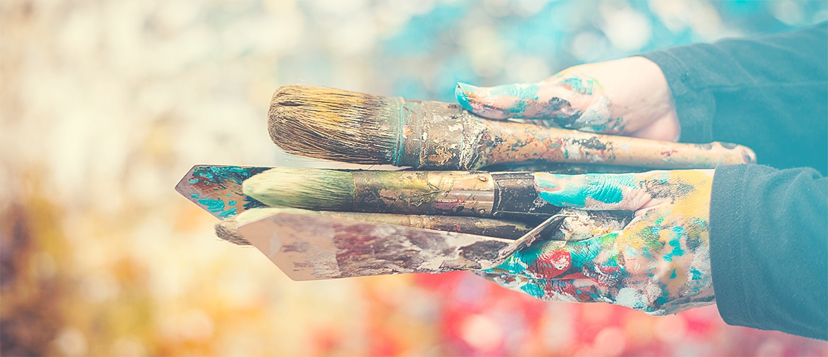 Abstract Canvas Painting Art Materials