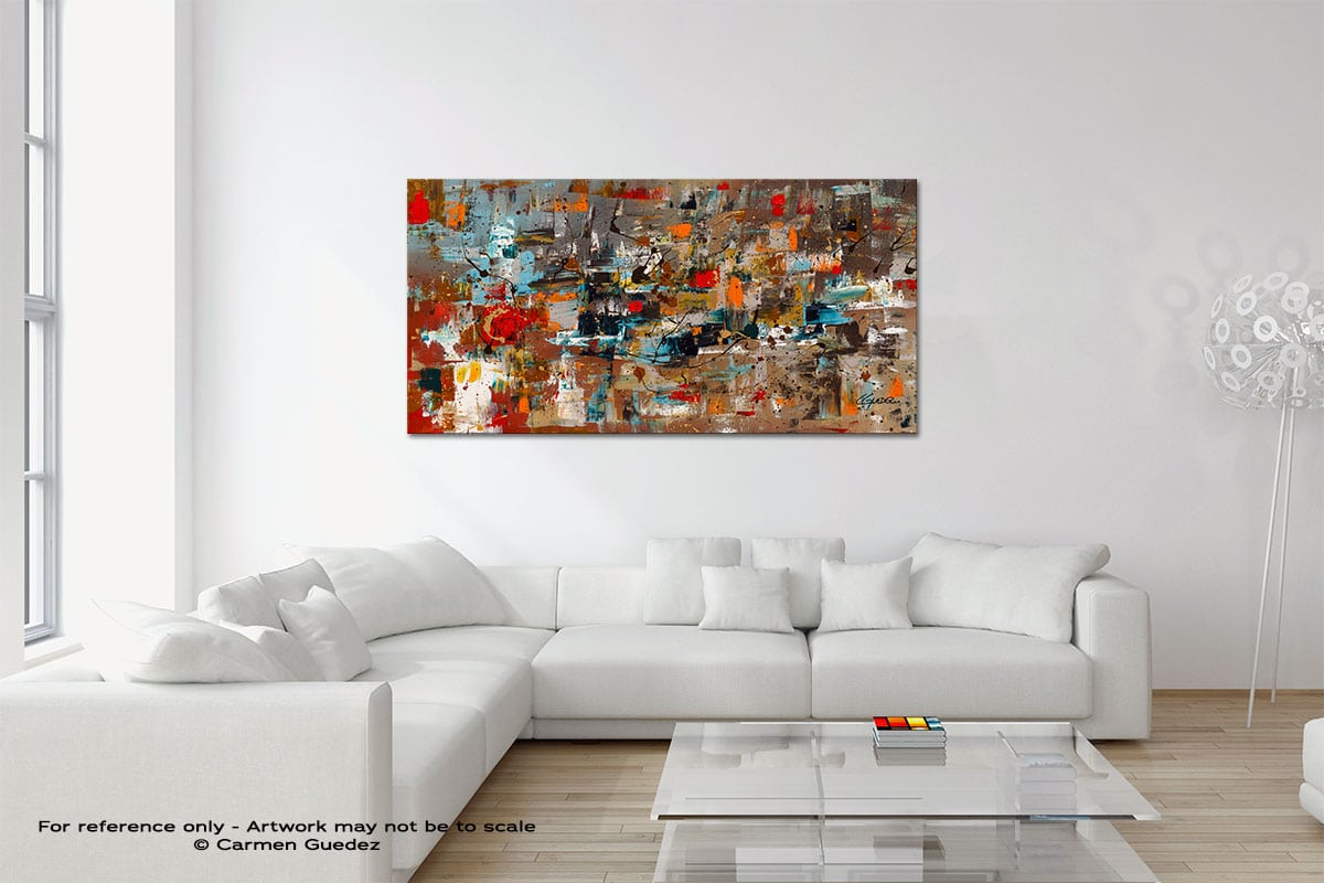 Abstract Celebration Original Neutral Abstract Wall Art Room Id39