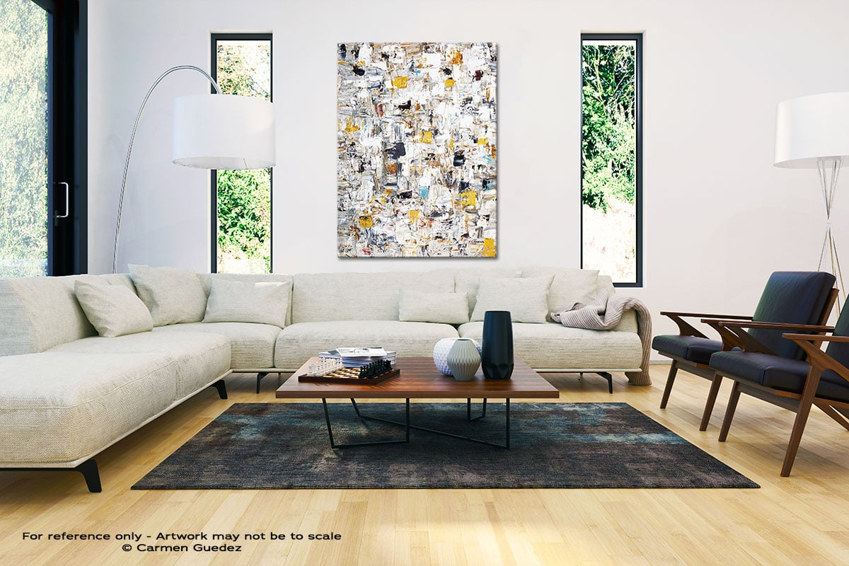 Abstract Creation3 Large Vertical Wall Art Painting Id53