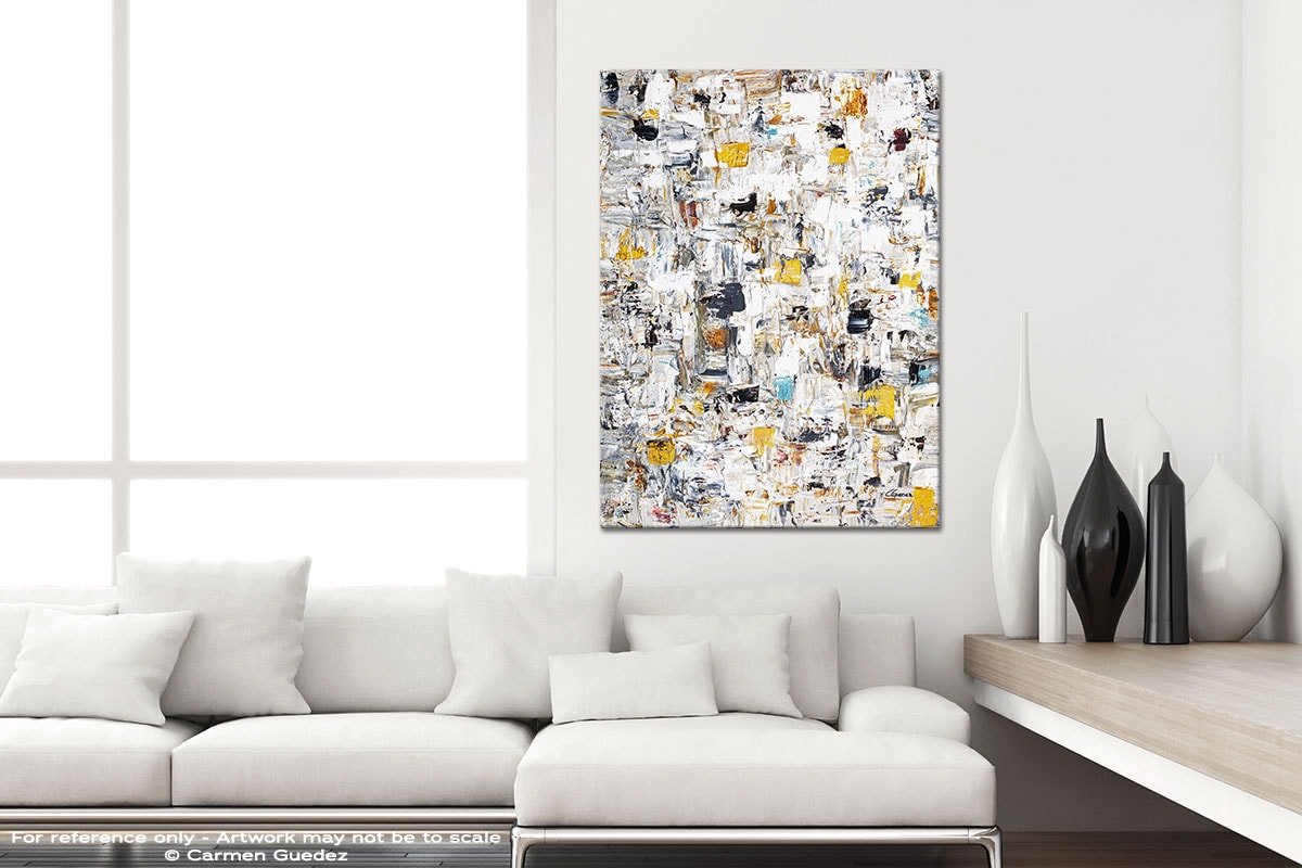 Abstract Creation3 Modern Vertical Black And White Interior Abstract Art Id54