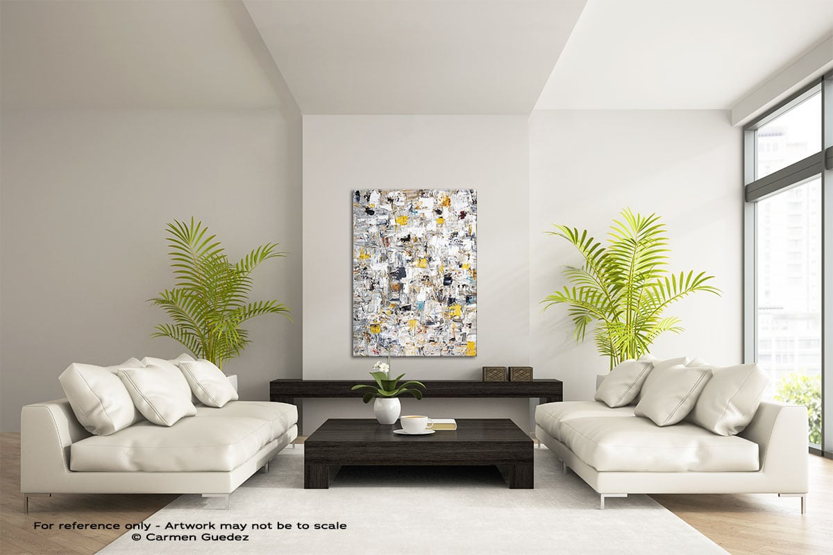 Abstract Creation3 Vertical Abstract Wall Art Painting Id57