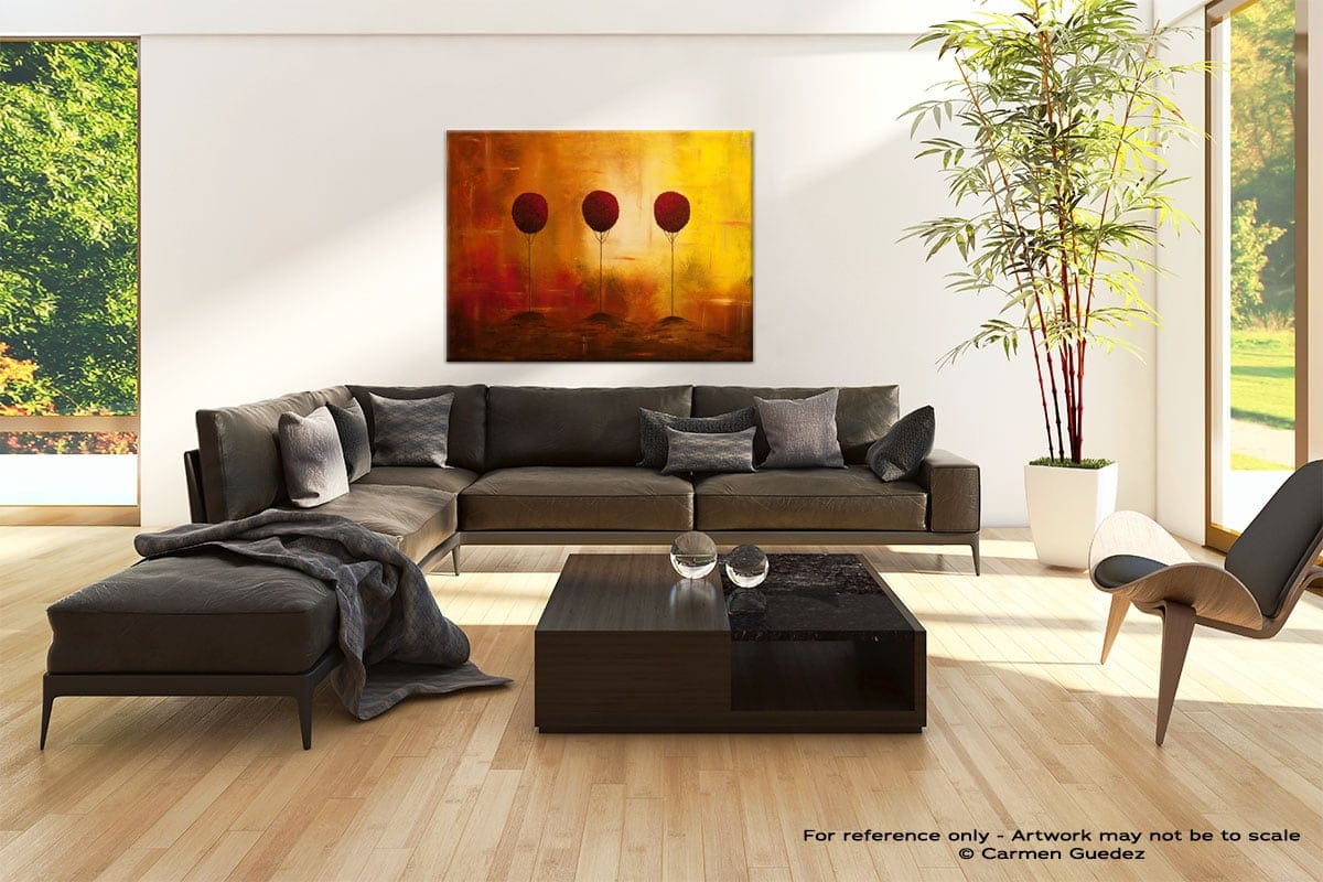 Abstract Wall Art Painting Design Id68 Three Alone But Together