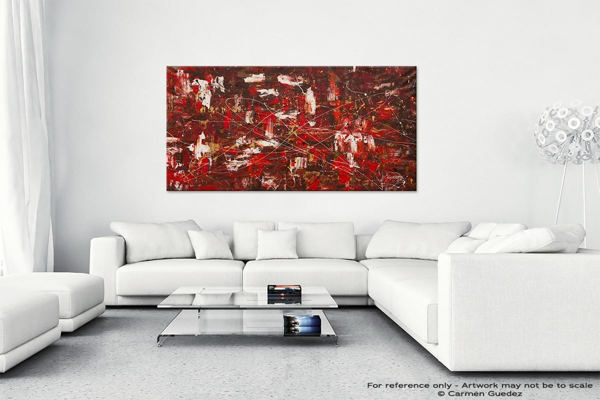 Abstract Wall Art Painting On Canvas Id1 Red Matter