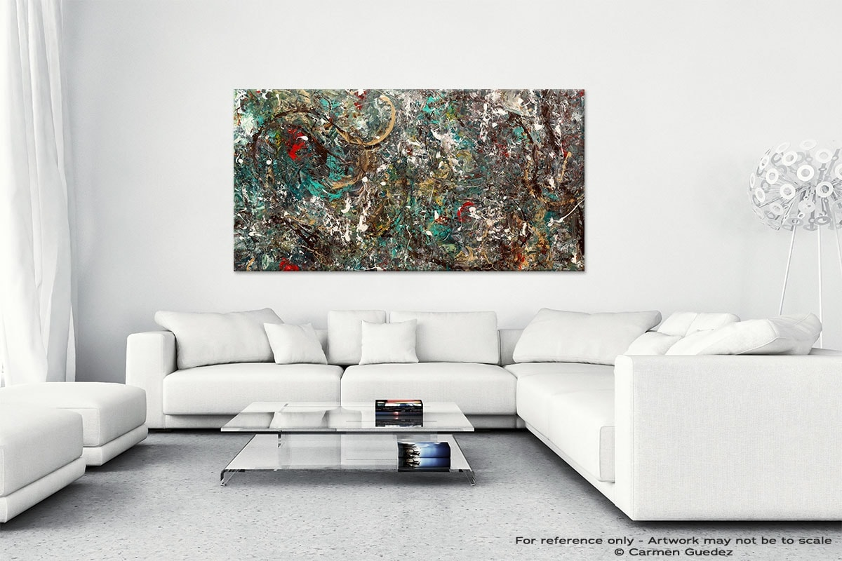 Abstract Wall Art Painting On Canvas Id1 The Gold Ring