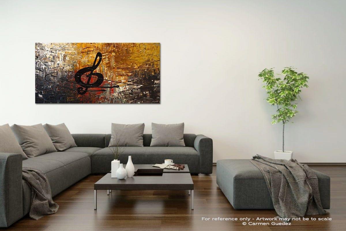 Affrettando Acrylic Gray Wall Art Painting Id34