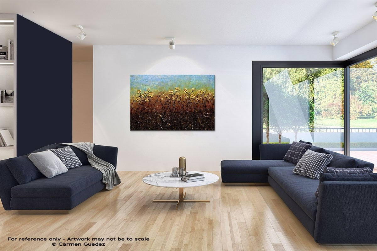 All That Glitters Abstract Art Blue Interior Home Id59