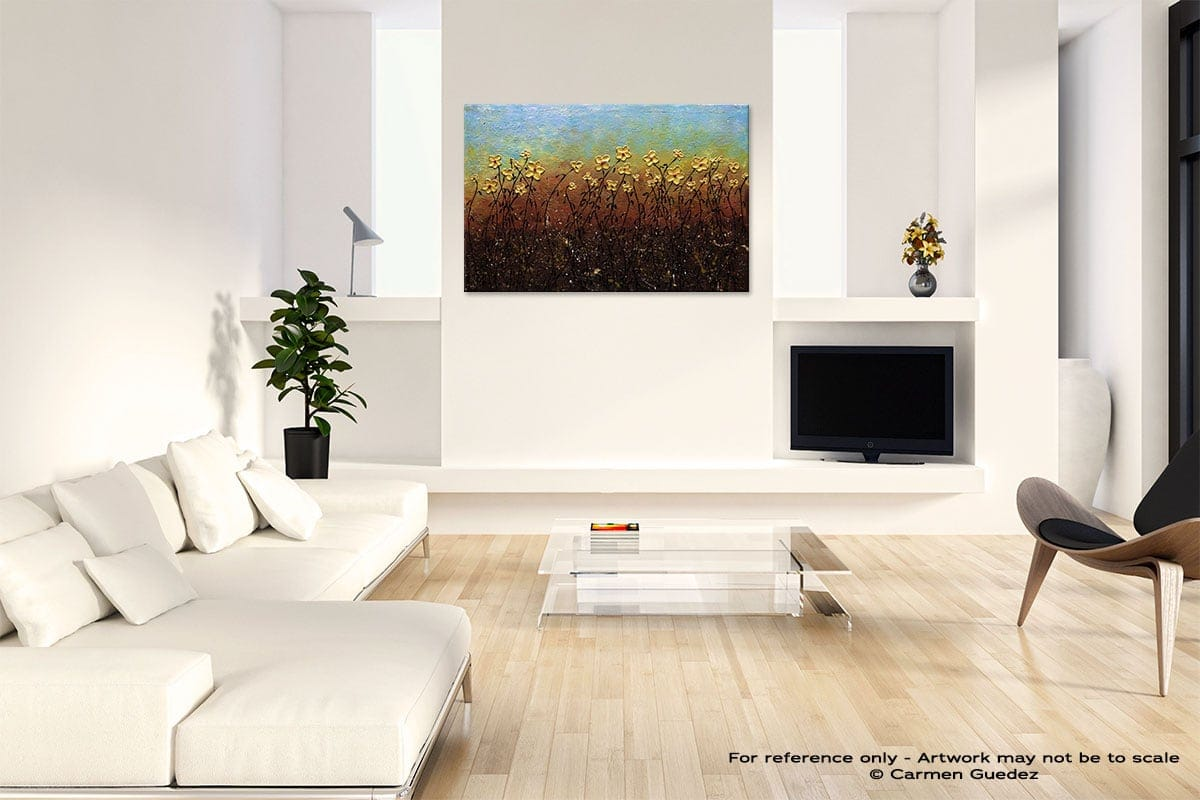 All That Glitters Abstract Art Painting Interior Living Room Design Id60