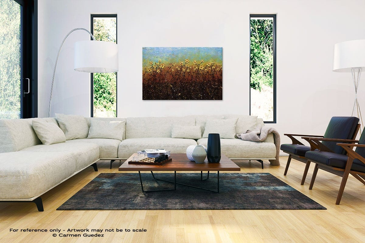 All That Glitters Abstract Painting Interior Decor Art Id61