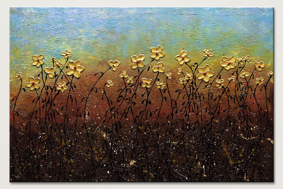 All That Glitters Modern Flower Painting Id80