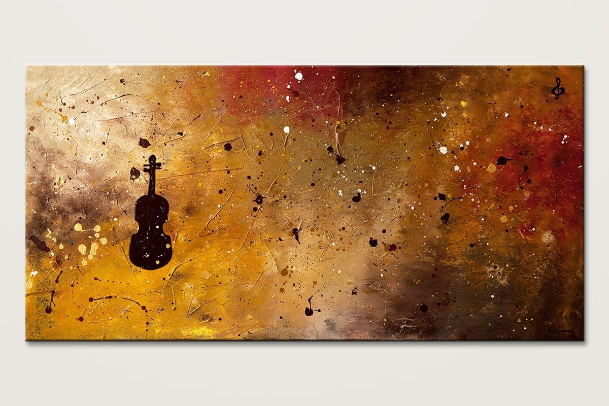 Brand-new Large Abstract Art for Sale Allegro Con Brio - Music Paintings for  FT91
