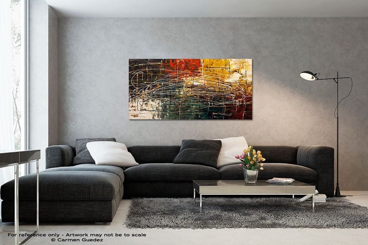 Along The Way Black And White Wall Abstract Art Painting Id70