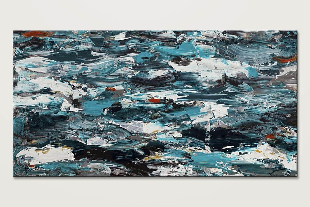 Aquamarine Adventure - Extra Large Blue Wall Art Painting