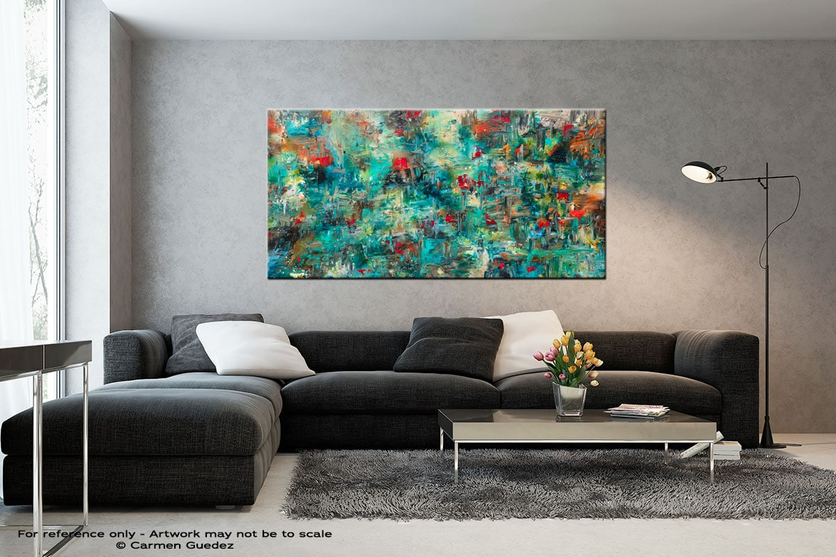 Aquatic Blooms Black And White Abstract Art Living Room Id2