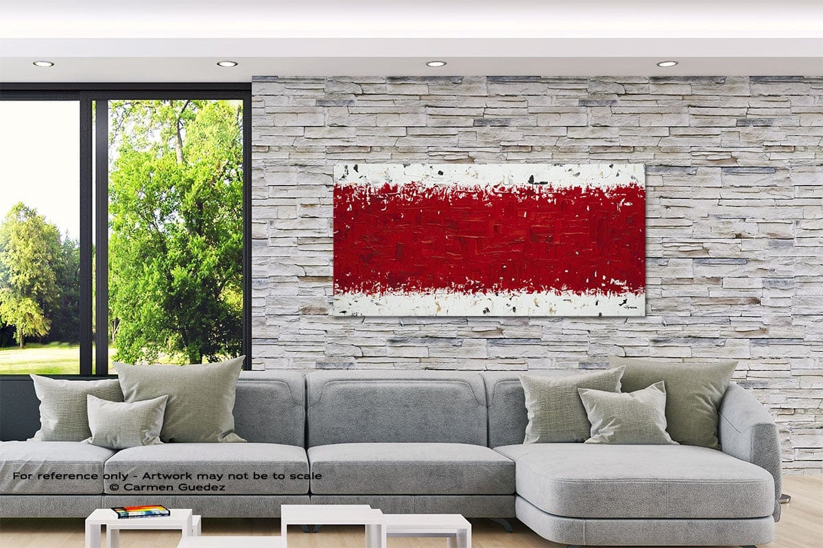 Ardent Love Abstract Canvas Painting Interior Decor Id33