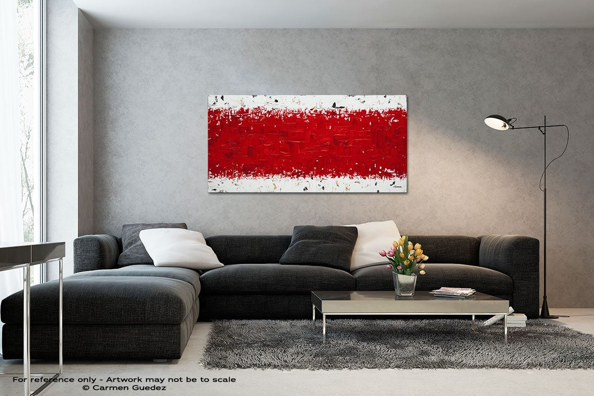 Ardent Love Black And White Wall Abstract Art Painting Id70