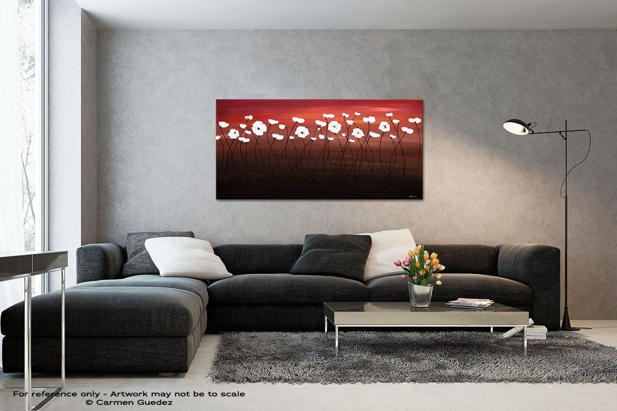 Atardecer Black And White Wall Abstract Art Painting Id70