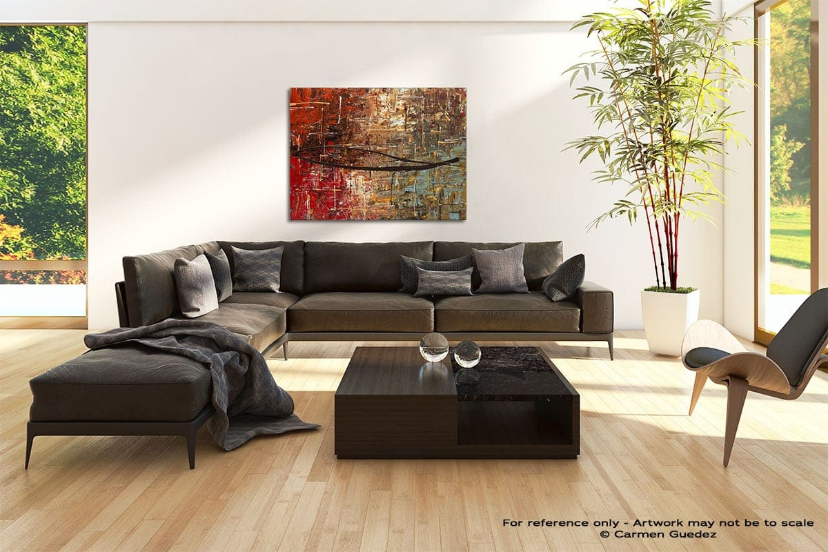 Autumn Abstract Painting Modern Home Id69