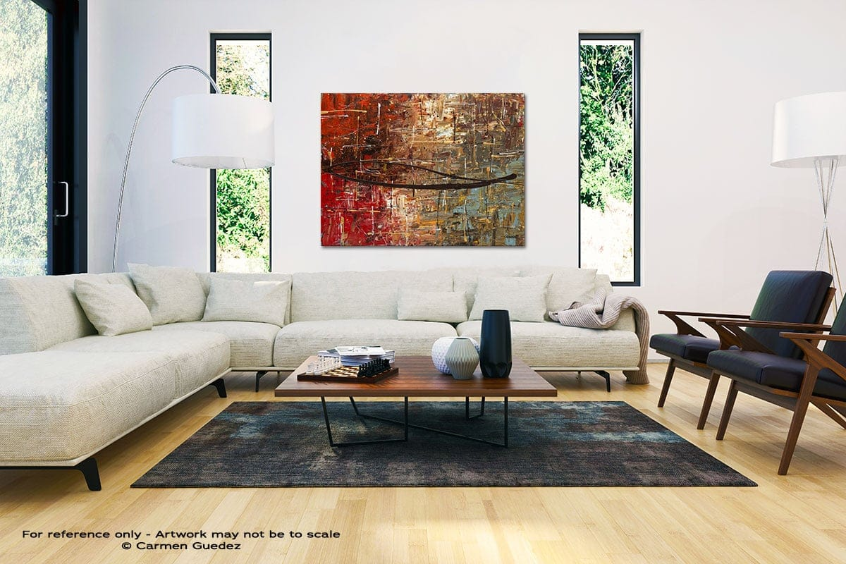Autumn Black And White Interior Decor Abstract Art Id46