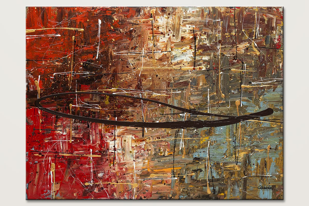 Autumn Canvas Abstract Art Painting Id80