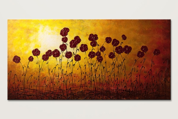 Autumn Valley Abstract Art Painting Of Flowers Id80