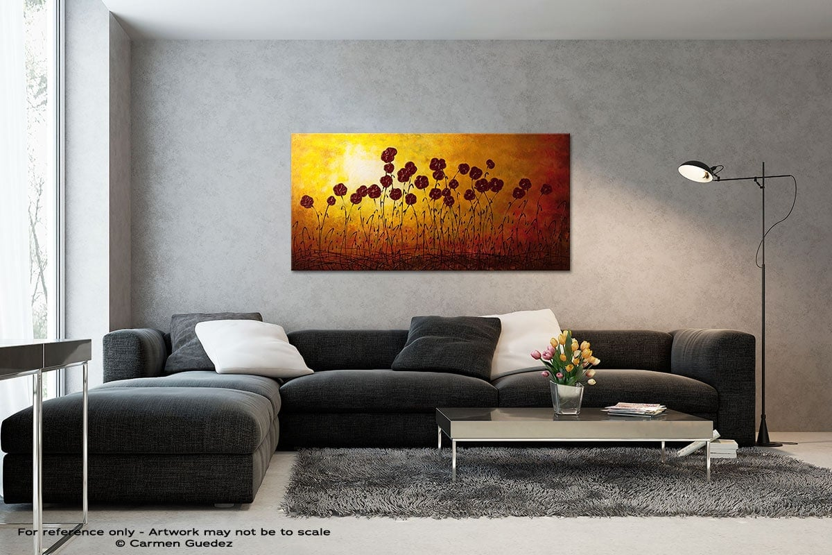 Autumn Valley Black And White Wall Abstract Art Painting Id70