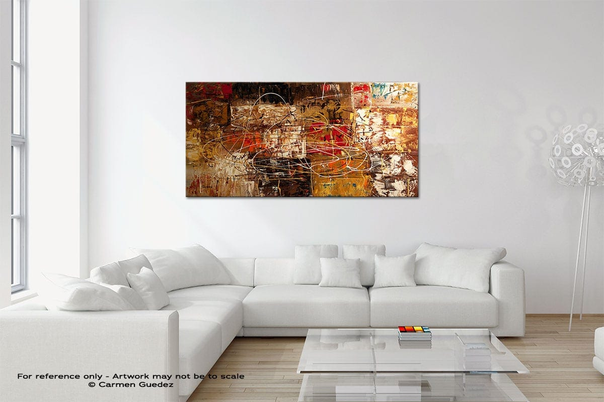 Avant Garde Original Neutral Abstract Wall Art Room Id39