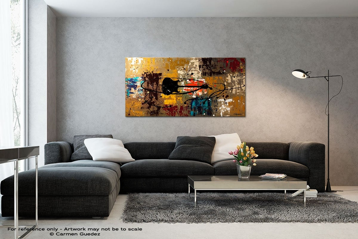 Be A Rock Star Black And White Wall Abstract Art Painting Id70