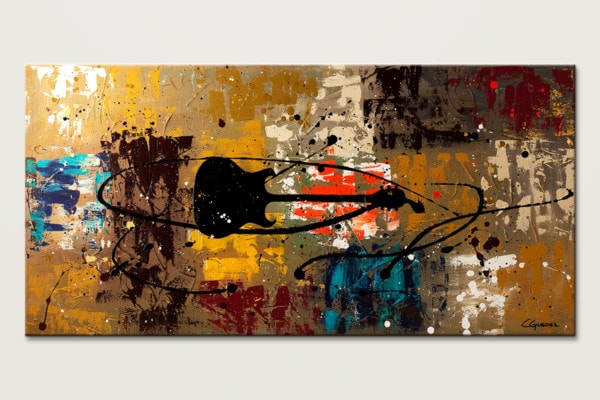 Be A Rock Star Guitar Music Abstract Painting Id80