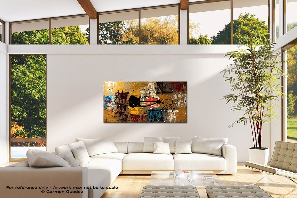 Be A Rock Star Modern Canvas Abstract Art Id38