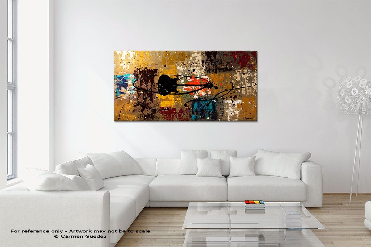 Be A Rock Star Original Neutral Abstract Wall Art Room Id39