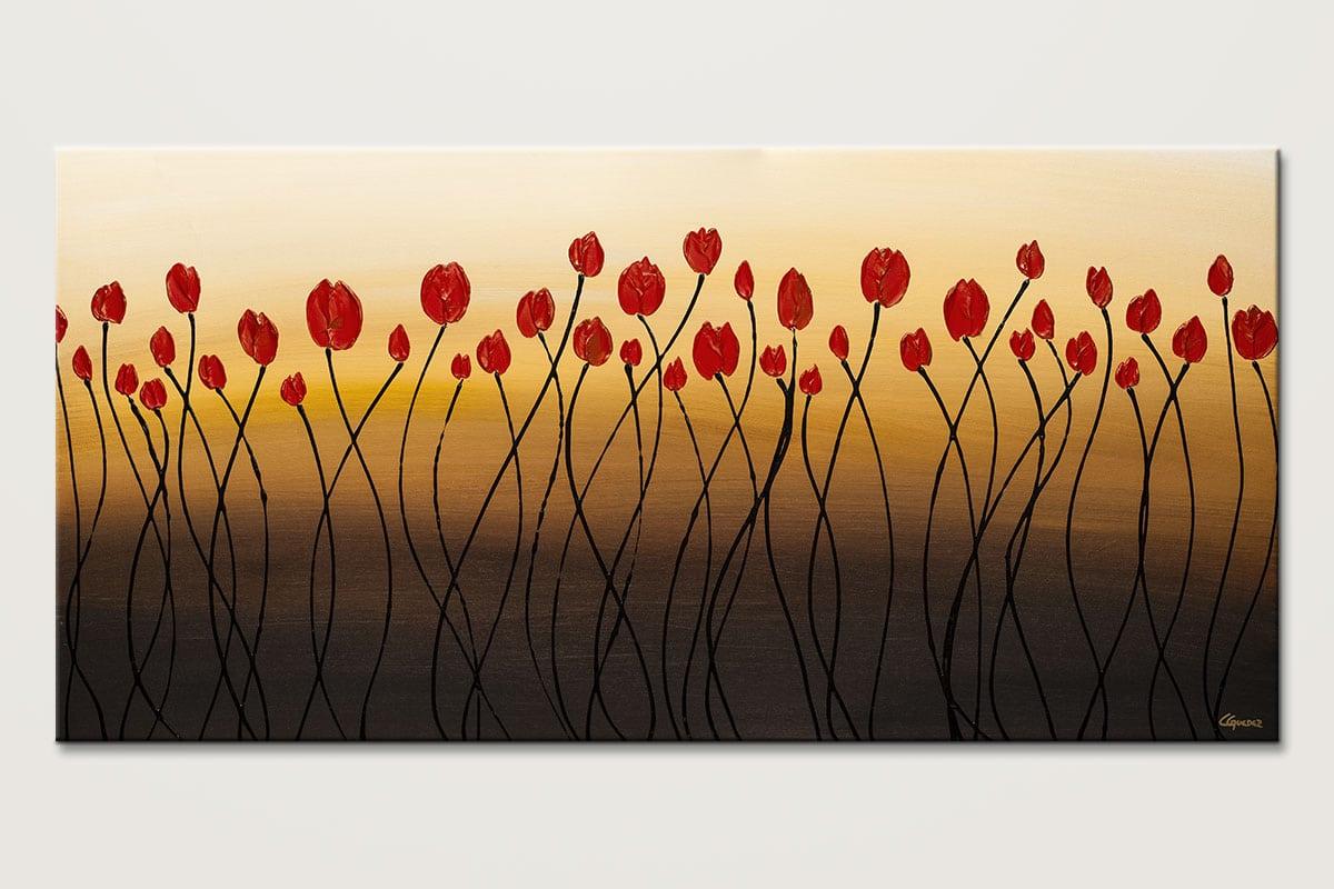 Bella Flora Abstract Wall Art Painting Id80