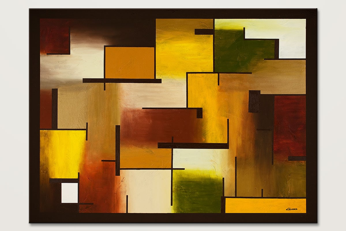Beyond Reality Large Geometric Painting Id80