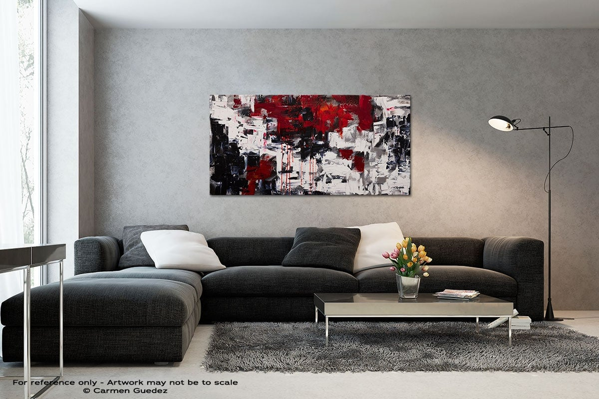 Beyond The Horizon Black And White Wall Abstract Art Painting Id70