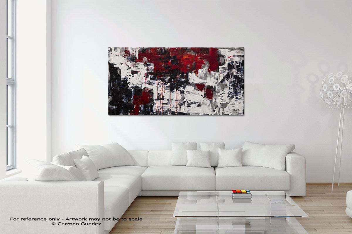 Beyond The Horizon Original Neutral Abstract Wall Art Room Id39