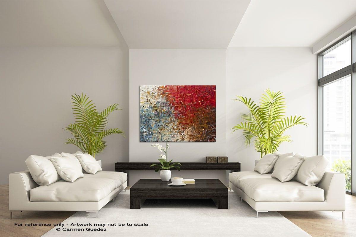 Big Bang Large Modern Abstract Art Painting Id49