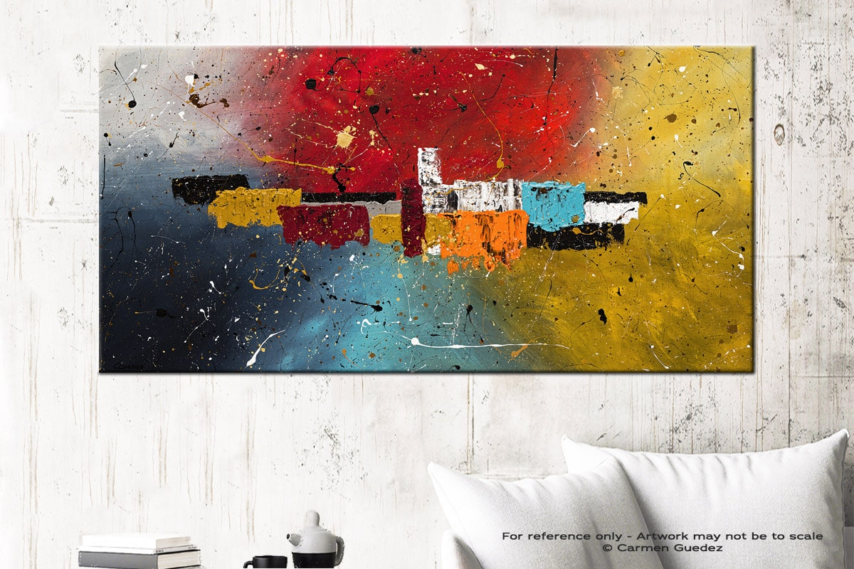 Big Celebration Abstract Art Canvas Painting Id72