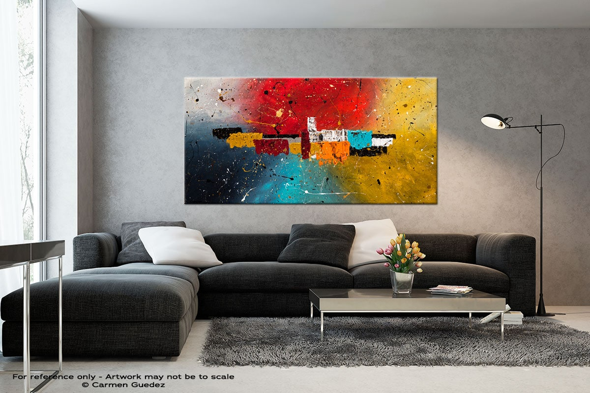 Big Celebration Black And White Wall Abstract Art Painting Id70