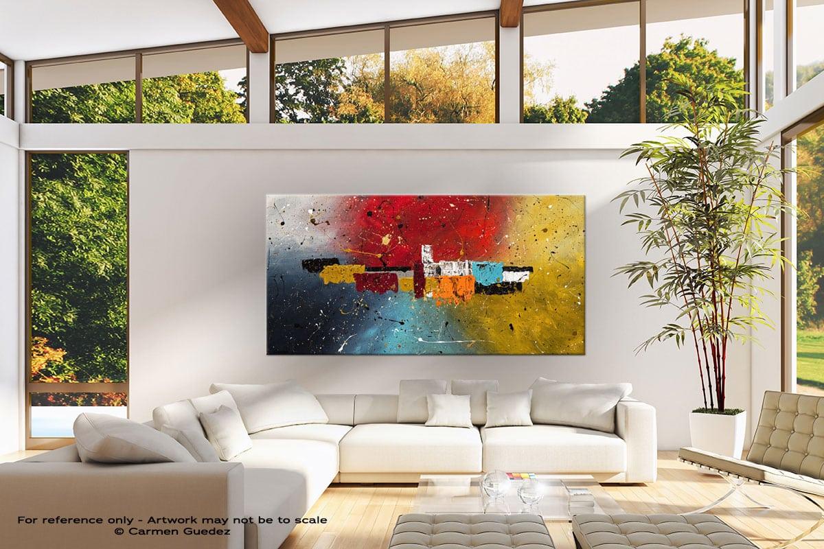 Big Celebration Modern Canvas Abstract Art Id38