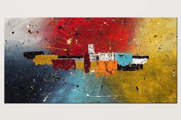 Big Celebration Original Colorful Abstract Art