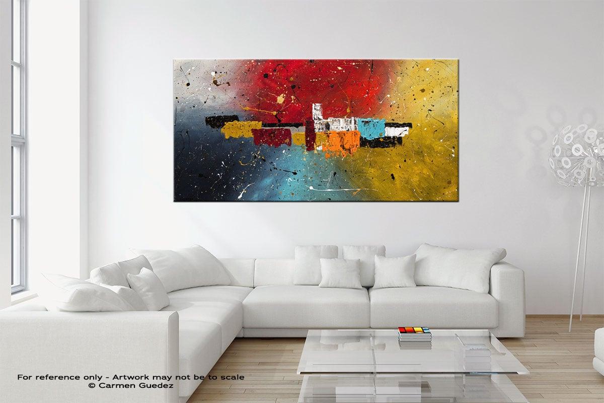 Big Celebration Original Neutral Abstract Wall Art Room Id39