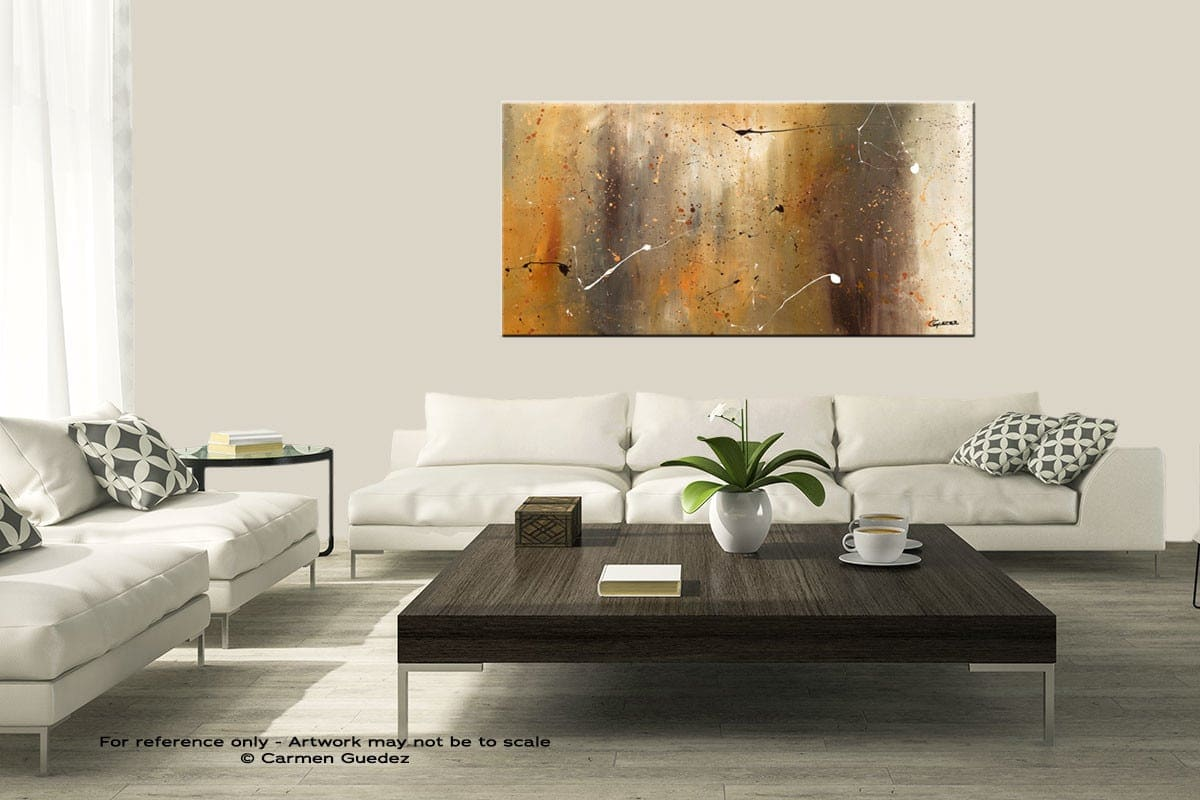 Bird And Waterfall Modern Large Abstract Art Painting Id8