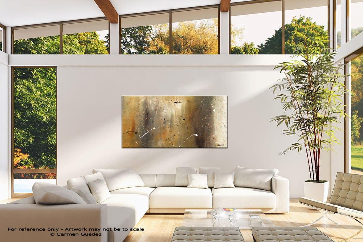 Bird And Waterfall Oversized Contemporary Abstract Wall Art Id10