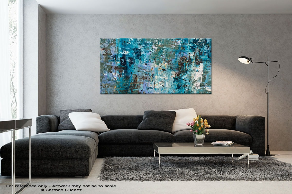 Black And White Abstract Art Living Room Id2 Blue Ocean