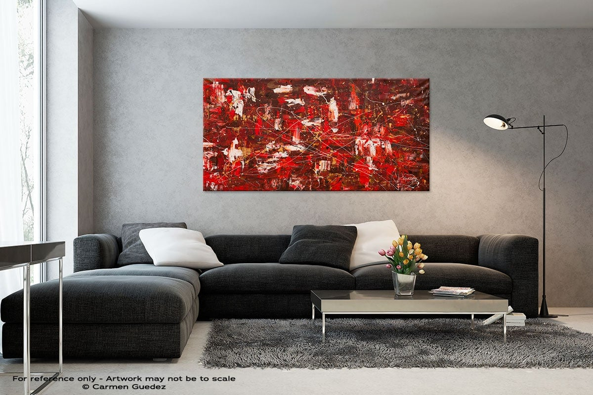 Black And White Abstract Art Living Room Id2 Red Matter