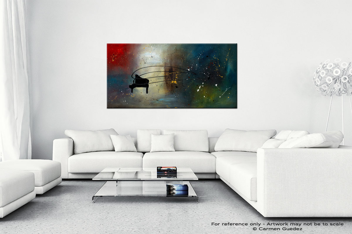 Black Piano Wall Art Canvas Painting Id40