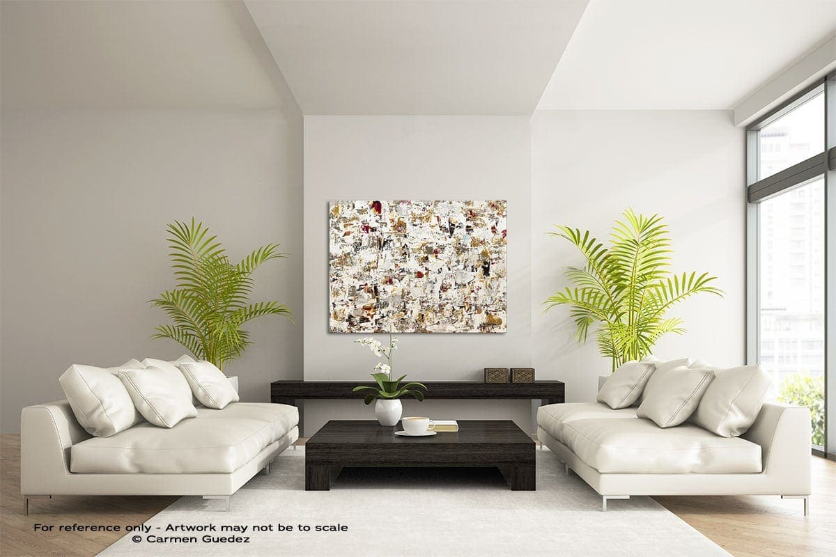 Blaze Of Glory Large Modern Abstract Art Painting Id49