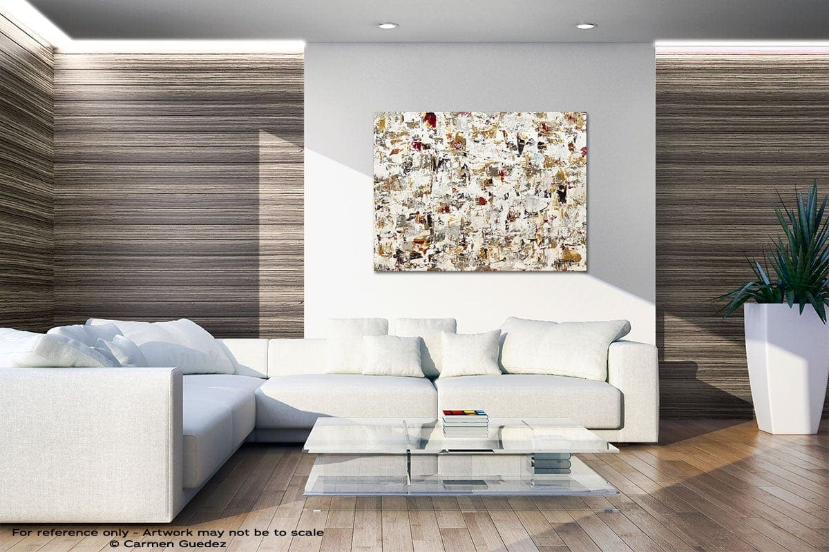 Blaze Of Glory Neutral Wall Abstract Art Home Id51