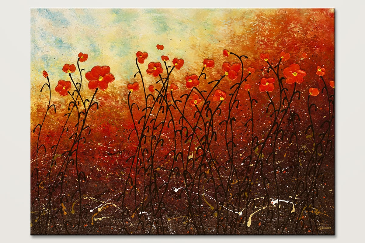 Blooming Flowers - Abstract Art Painting Image by Carmen Guedez